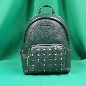 MICHAEL KORS ERIN MD BACKPACK RACING GREEN LEATHER